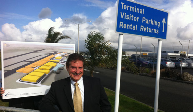 ON TRACK: Hawke's Bay Airport Business Park business development manager Wayne Wootton.