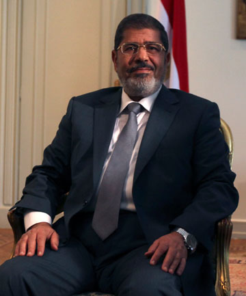 DEFIANT: Egypt's first Islamist president Mohamed Mursi is working amidst a power struggle with the country's military.