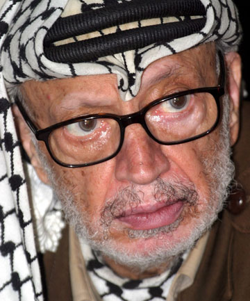 SUSPICIOUS DEATH: Since Yasser Arafat's death in 2004, many have speculated he was poisoned. His cause of death was given as 'inconclusive' by French doctors at the time.