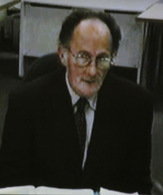 'BEAST OF BLENHEIM': Stewart Murray Wilson, seen giving evidence via video link from Rolleston Prison to the High Court.