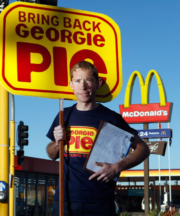 TRAIL BLAZING: Grant Duffield is trying to get McDonald's to re-open Georgie Pie and is collecting signatures for a petition to present at McD's head office in Auckland.
