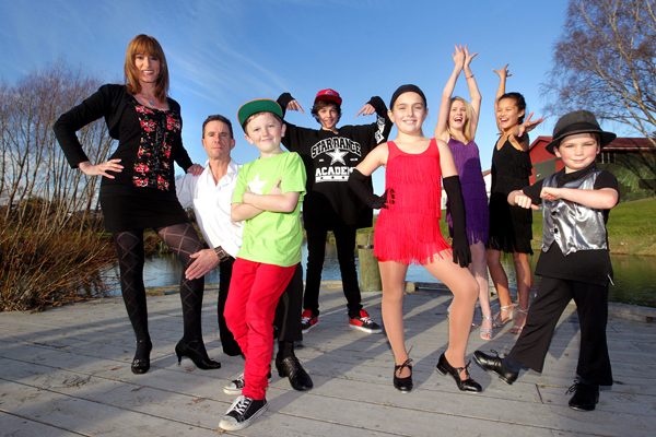 Celebrating styles: Marlborough dancers, from left, Katrina Lange, Dave Barrett, Braeden McDonald, 11, Liam Davis, 13, Hayley Rogers, 8, Kelsi Hale, 14, Tineka Houra, 11, and  Joe Coldwell, 6, meet to practise ahead of the Celebration of Dance showcase at  the Boathouse Theatre on July 21