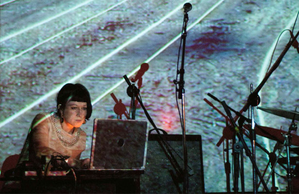 FEEL IT: Jo Burzynska has made an earthquake recording, Body Waves, in collaboration with Melbourne sound artist Malcolm Riddich. The image in the background is train tracks in Lyttleton.