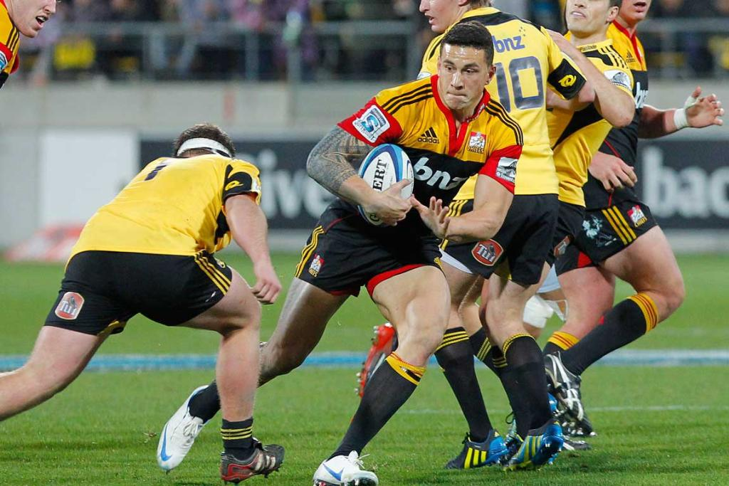 Chiefs' Sonny Bill Williams in action against the Hurricanes.