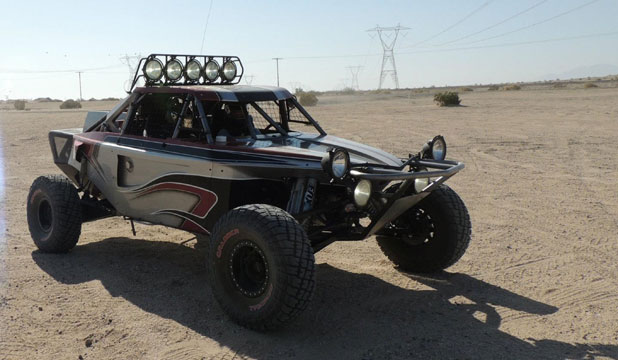 TREVOR'S TOYS: One of Trevor Cooper's four cars, which he now owns after an off-road shopping spree with his Lotto winnings. It's a class 1 open car, from the United States, the same model which he planned to race in Nelson - his first off-road race in New Zealand.
