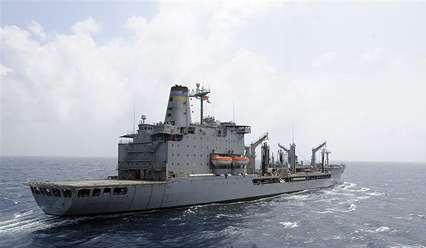 UNDER THREAT?: A file photo of the US Navy supply ship USNS Rappahannock