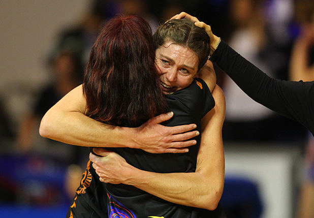 MIXED EMOTIONS: : Last night's win the ANZ Netball preliminary final was bitter-sweet for Irene van Dyk after her mother passed away yesterday morning.