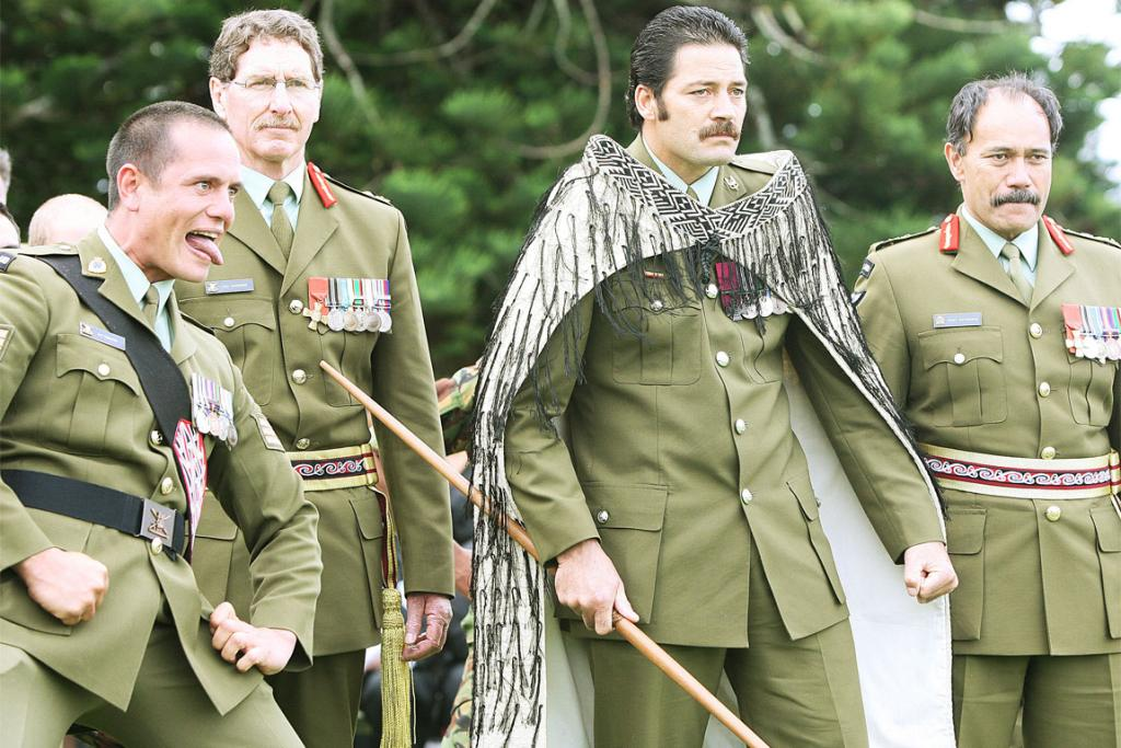 Willie Apiata, VC, at Waitangi, performing an army haka.