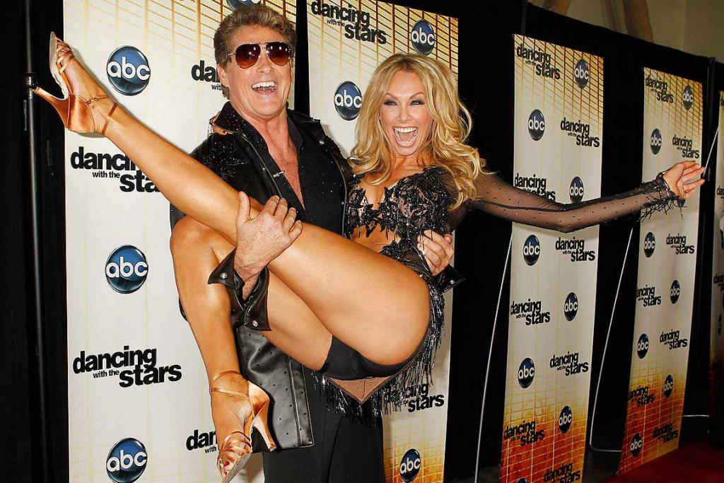 Let's Dance: David Hasselhoff with dancing partner Kym Johnsonat the premiere of Dancing with the Stars Season 11