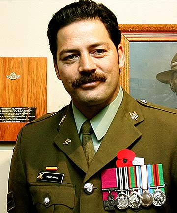WAR HERO: Willie Apiata received a Victoria Cross for his heroics in Afghanistan.
