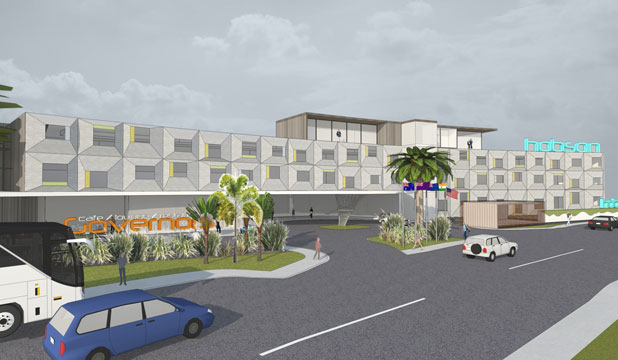 An artist's impression of the planned New Plymouth hotel