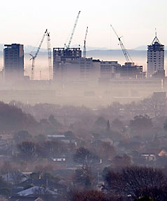 Christchurch smog July 18, 2012
