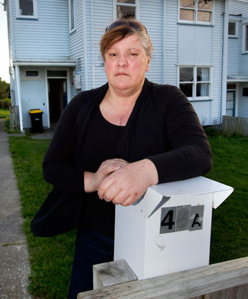 Georgina TempletonNowhere to go: Georgina Templeton, who has been unable to ntsGworkntedo her job since injuring her shoulder working for Spotless Services, is behind on the rent on her