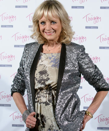 TWIGGY BRANCHES OUT: Twiggy says high-waist jeans help her to hold her tummy in.