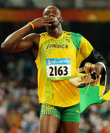 USAIN BOLT: Hamstring problems could hamper his gold medal ambitions in London.