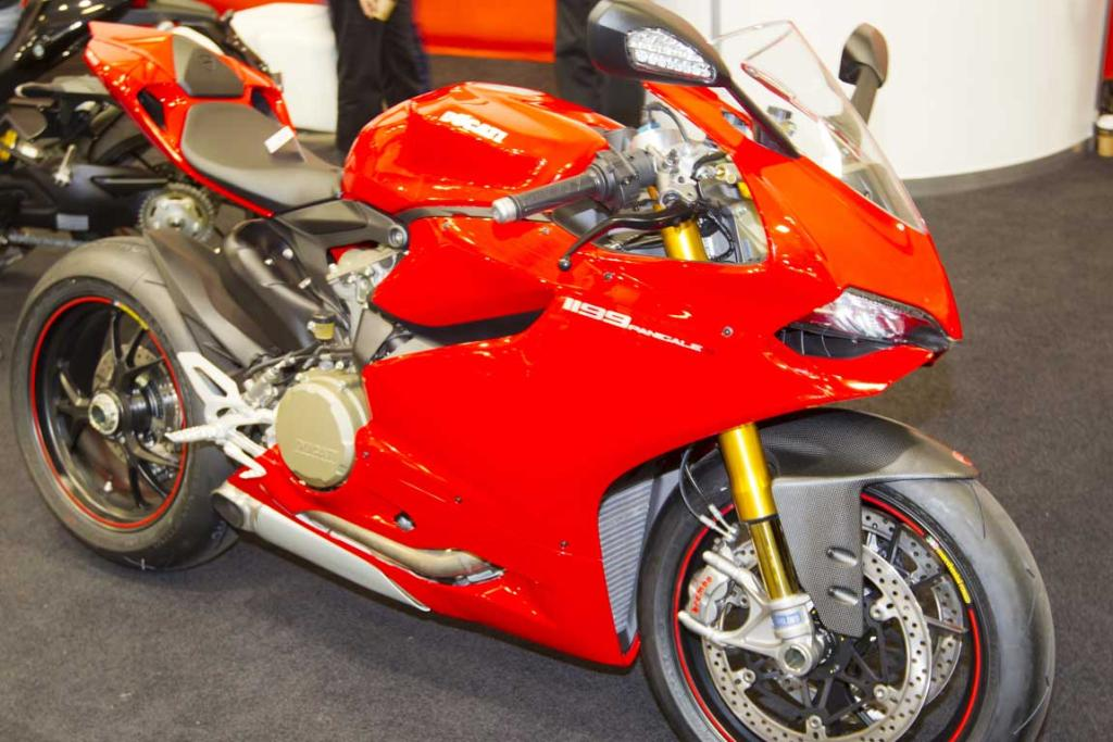 A Ducati 1199 superbike on display at the CRC Speedshow.