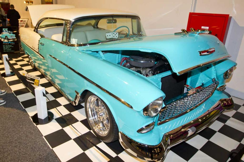 Rob Mannington's 1955 BelAir hardtop Chevrolet on display at the CRC Speedshow.