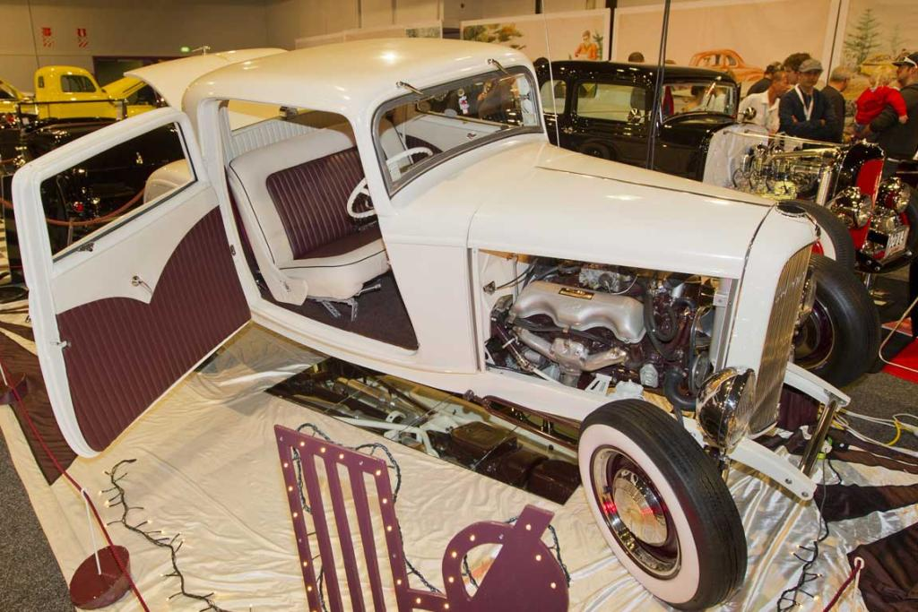 A hotrod on display at the CRC Speedshow.