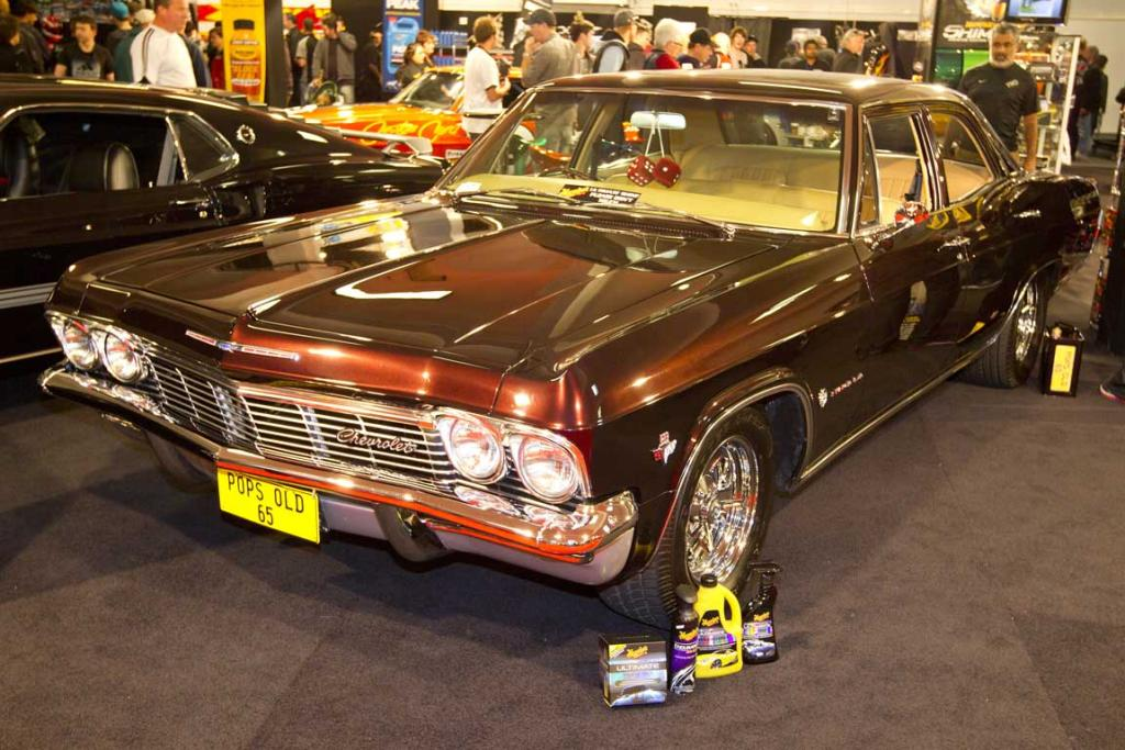 A 1965 Chevrolet Impala on display at the CRC Speedshow.