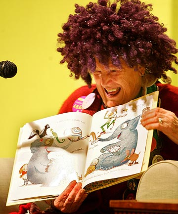 BEDTIME STORY: Late author Margaret Mahy reads at Wellington's Museum of City and Sea in 2010.