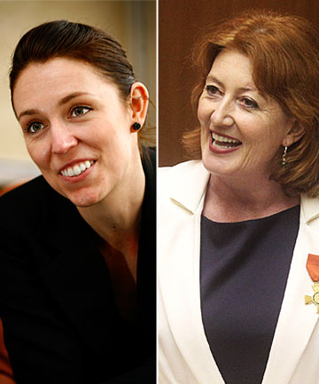 Maggie Barry and Jacinda Ardern