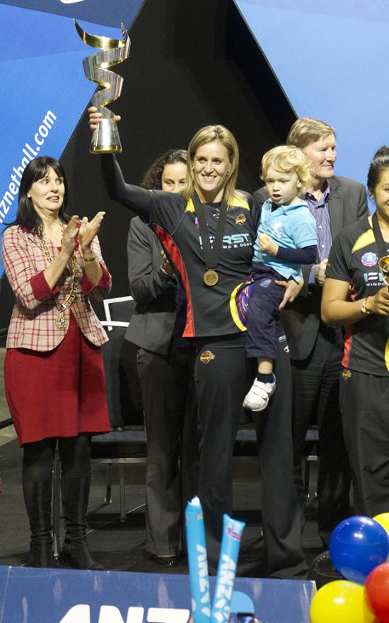 MAGICAL MOMENTS: Waikato Bay of Plenty Magic players interact with their fans at yesterday's champion's reception held at the Claudelands Arena in Hamilton.