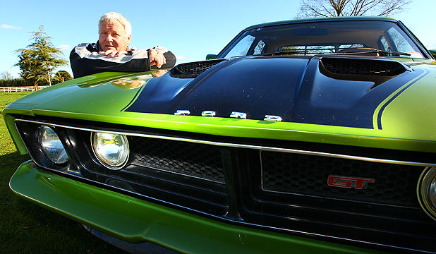 MUSCLE CAR: Colin Bates shows off his 1974 XB GT 351, which will be one of hundreds of cars on show at Claudelands tomorrow.