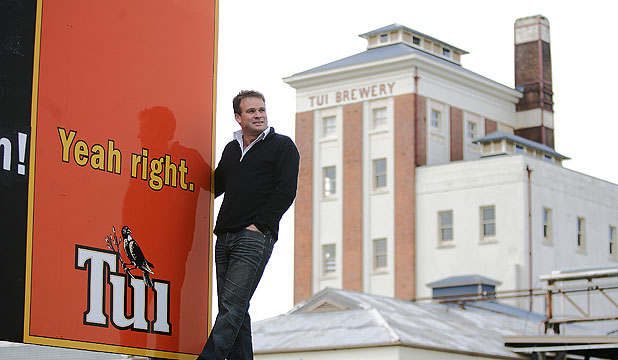 THE RIGHT STUFF: Tui marketing manager Nick Rogers at the Tui Brewery in Mangtainoka.