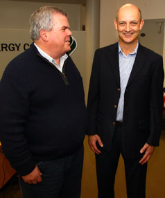 New Zealand Energy Corp chief operating officer Ian Brown, left, and newly appointed New Zealand country manager Chris Bush.
