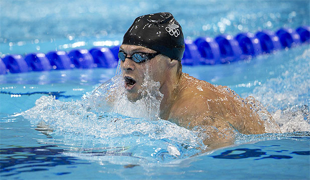 SEMIFINALIST: Auckland swimmer Glenn Snyders in the semifinal of the Olympic 200m breaststroke.