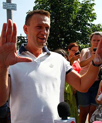 CHARGED: Russian opposition leader Alexei Navalny.