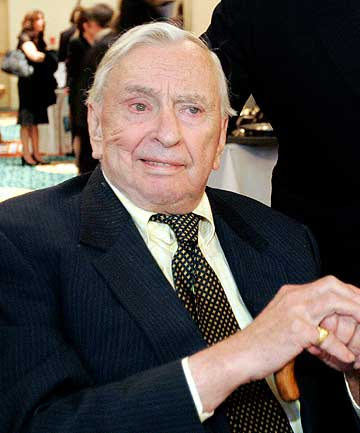 Author, playwright, politician and commentator Gore Vidal.