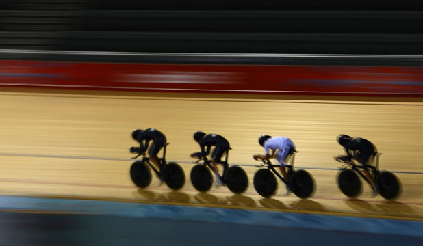 New Zealand track cyclists