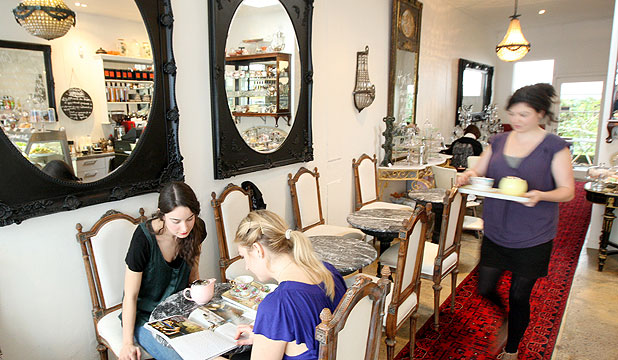 MORE THAN MEETS THE EYE: Florentine Tearoom has a high-tea feel but all the food items of a great cafe.
