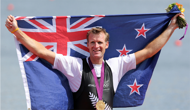 Olympic single sculls gold medallist Mahe Drysdale of New Zealand.