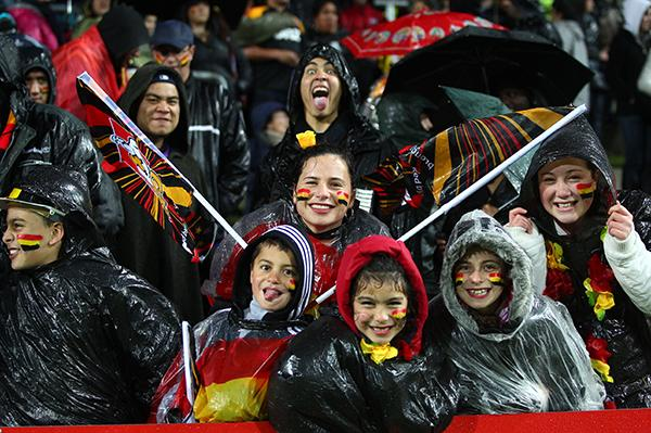 Chiefs fans get ready for action at the Waikato Stadium