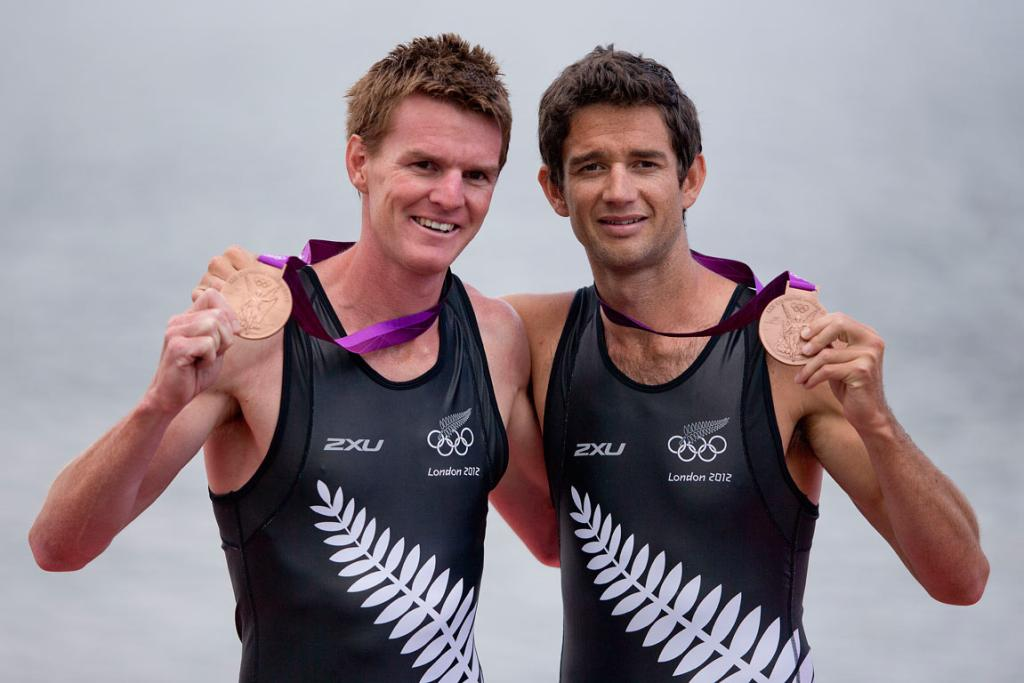 Peter Taylor (left) and Storm Uru were New Zealand's fourth bronze medalists in London.