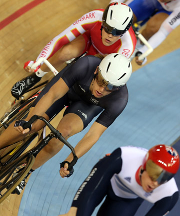 ORDINARY: Shane Archbold did not perform well in the omnium points race.