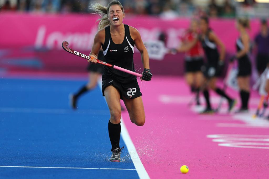Gemma Flynn in action against the USA.