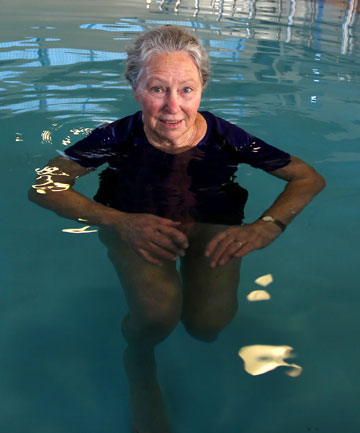 WATERED DOWN: Swimming instructor Heather Wood at the CCS Disability Action North Taranaki heated pool.