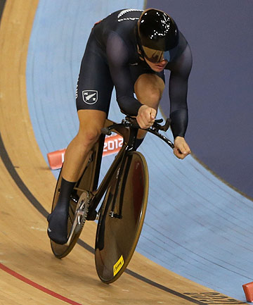Timaru's Shane Archbold competes in the 4km individual pursuit of the omnium event at the London Olympics.