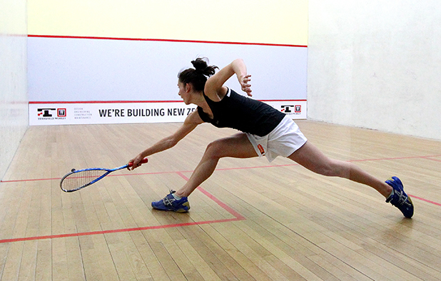 JOELLE KING: The Kiwi No 1 fought hard to beat regular rival Jaclyn Hawkes, 11-3, 8-11, 16-14, 11-5, in yesterday's national title final in New Plymouth.