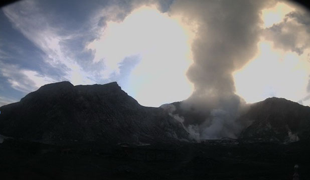 STEAMING: GNS confirms that 'volcanic eruption is underway', although there is little or no ash being emitted.