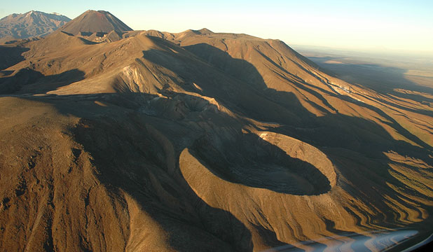 ACTIVE: A view of Mt Tongariro from the northeast, taken before the eruption. The Te Mari Craters are in the foreground.