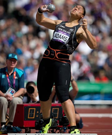 MOVING ON: With a throw of 20.40m, Val Adams, the reigning Olympic champion, qualified second for the women's shot put final, behind her rival Nadzeya Ostapchuk of Belarus.