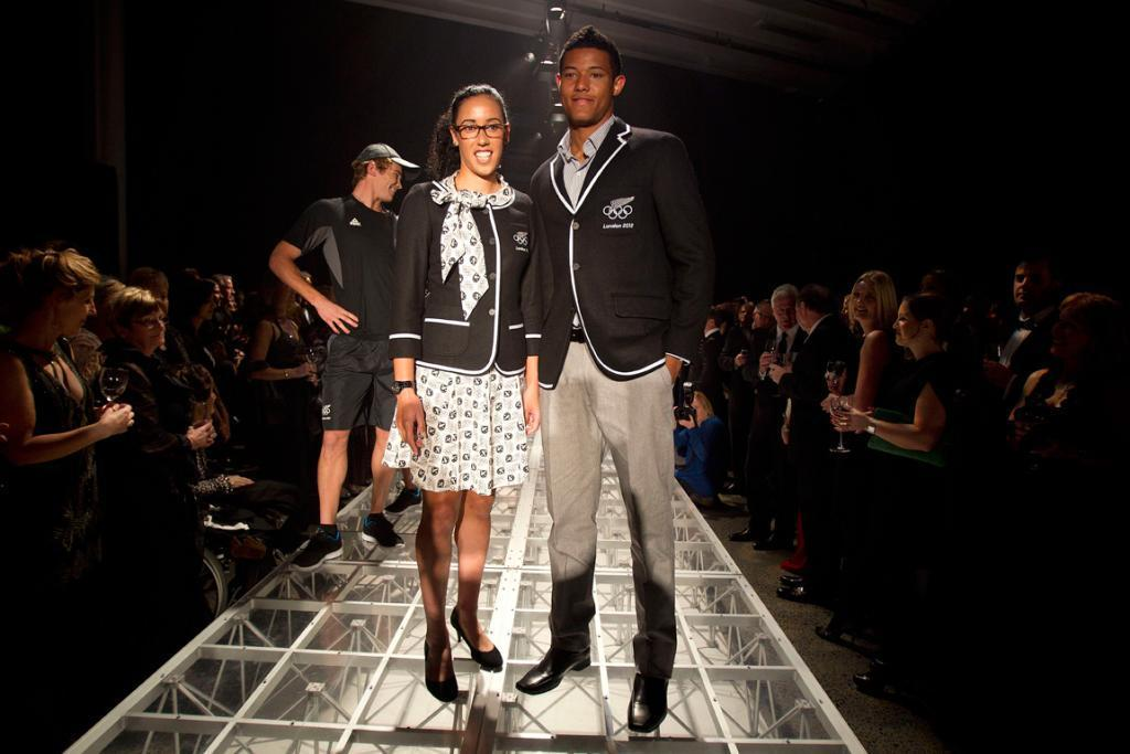 ....and then there is New Zealand's uniform, modelled by James Musa and Melody Cooper