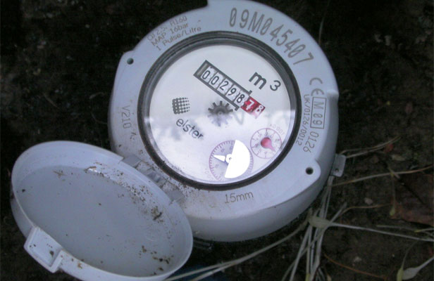 SOMETHING IN THE WATER: An installed water meter on the Kapiti Coast.
