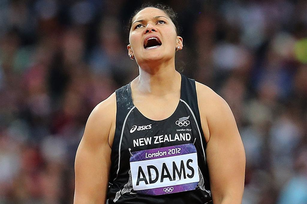 Valerie Adams wins silver in the women's shot put final in London.