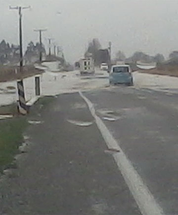 State Highway 1, south of Timaru.