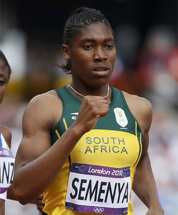 MEDAL CHANCE: Caster Semenya of South Africa in her 800m heat.